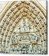 Notre Dame Cathedral Center Entry Canvas Print