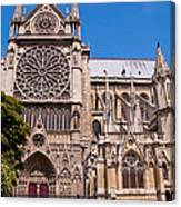 Notre Dame Cathedral Rose Window Canvas Print
