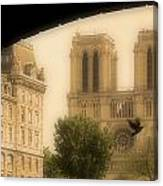 Notre Dame Cathedral Viewed Canvas Print