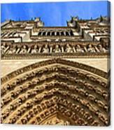 Notre Dame Details 7 Canvas Print
