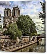 Notre Dame On The Seine Canvas Print