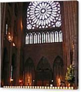 Notre Dame Votive Candles Canvas Print