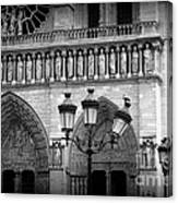 Notre Dame With Luminaires Canvas Print