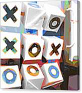 Noughts And Crosses Canvas Print