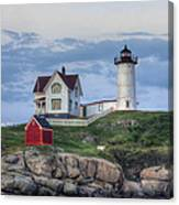 Nubble Light At Dusk Canvas Print