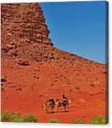 Nubian Camel Rider Canvas Print