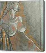 Nude Model  Canvas Print