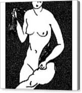 Nude Sketch 12 Canvas Print