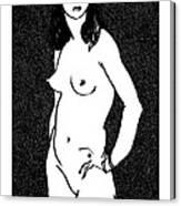 Nude Sketch 17 Canvas Print