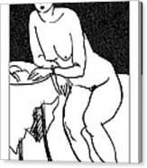 Nude Sketch 40 Canvas Print