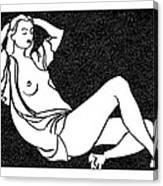 Nude Sketch 58 Canvas Print