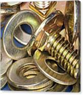 Nuts Bolts And Washers Canvas Print