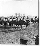Ny Police Fencing On Horseback Canvas Print