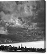 Ny Skyline Approaching Storm Canvas Print