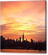 Ny Skyline -daybreak Splendor Canvas Print