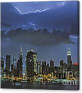 Nyc All Charged Up Canvas Print