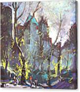 Nyc Central Park Controluce Canvas Print