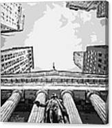 Nyc Looking Up Bw6 Canvas Print