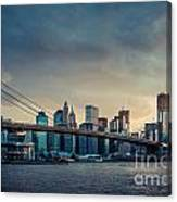 Nyc Skyline In The Sunset V1 Canvas Print