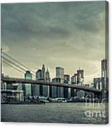 Nyc Skyline In The Sunset V2 Canvas Print