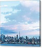 Nyc-sundown Blue I Canvas Print
