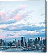 Nyc Sundown Blue II Canvas Print