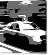Nyc Taxi Bw3 Canvas Print