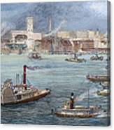 Nyc: The Battery, 1884 Canvas Print