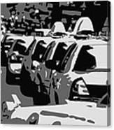 Nyc Traffic Bw3 Canvas Print