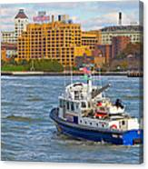 Nypd In The Water Canvas Print