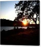 Oak Tree Sunset Canvas Print