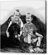 Obrien Brothers And Their Dog Canvas Print