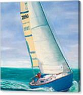 'obsession' Racing On The Atlantic Canvas Print