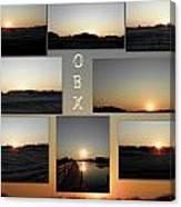 Obx North Carolina Sunsets Canvas Print