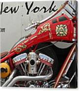Occ Fdny Motorcycle Canvas Print