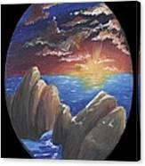 Ocean Circle Canvas Print
