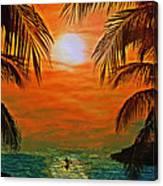 Ocean Kayaker Canvas Print