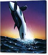Ocean Leap Canvas Print