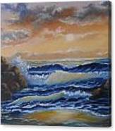 Ocean Study In Blue Canvas Print
