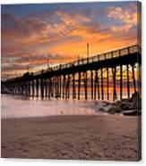 Oceanside Sunset 7 Canvas Print