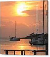 Ocracoke Island Harbor Sunset Canvas Print