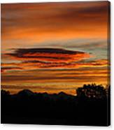 October's Colorful Sunrise 2 Canvas Print