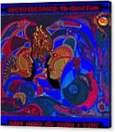 Ode To The Dogon The Eternal Flame Canvas Print