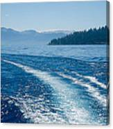 Off The Stern Canvas Print