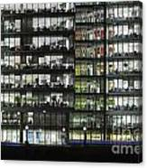 Office Buildings At More London By Night Canvas Print