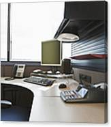 Office Work Station Canvas Print