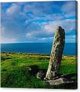 Ogham Stone, Dunmore Head, Dingle Canvas Print