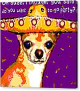 Party Chihuahua Canvas Print