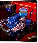 Oh So Simple Sanitary Truck Engine Canvas Print