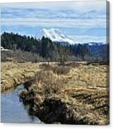 Ohop Valley View Of Rainier Canvas Print